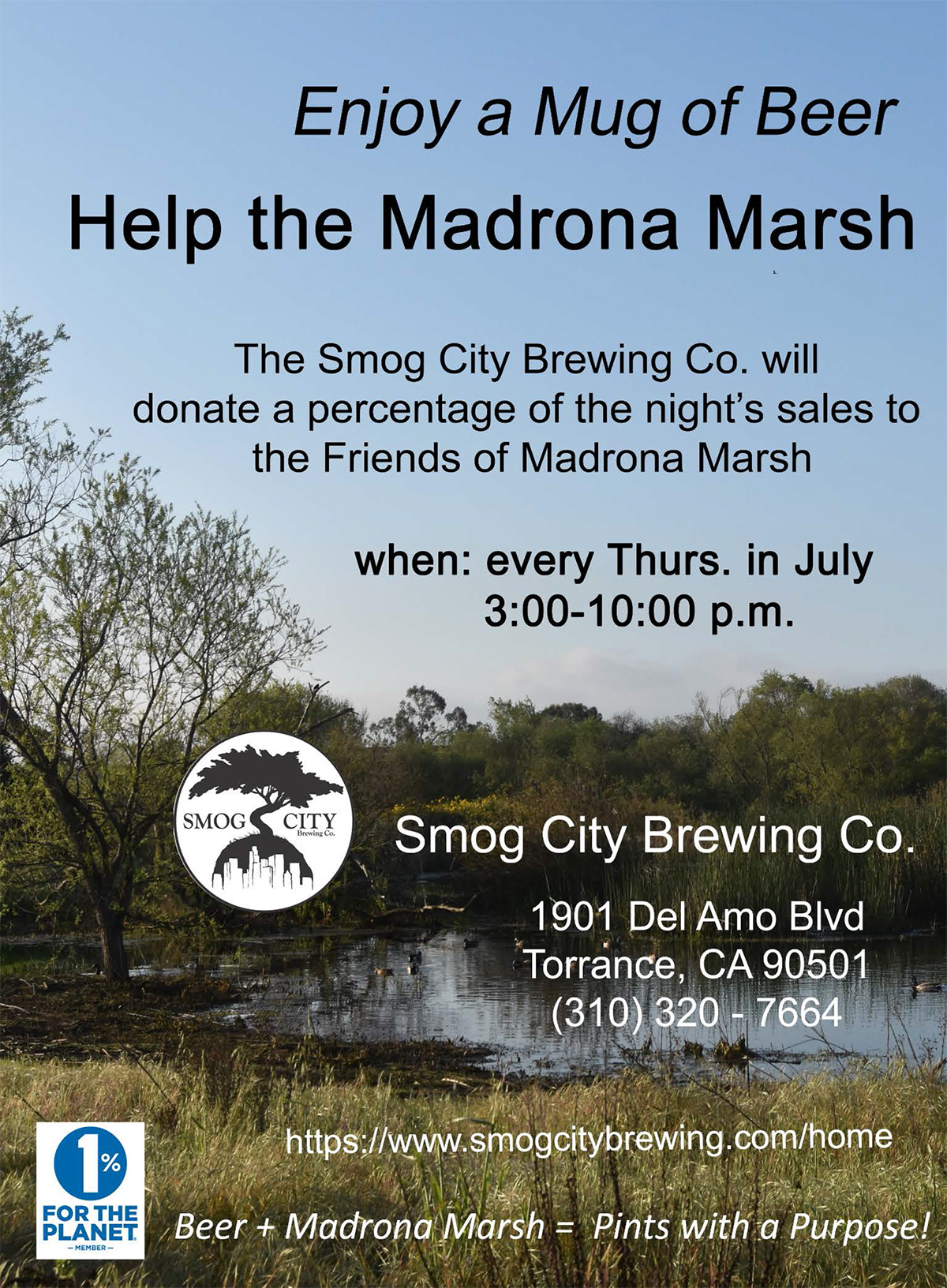 Pints with a Purpose -  July at Smog City Brewing Co.