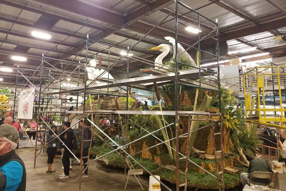 building City of Torrance Rose Parade float
