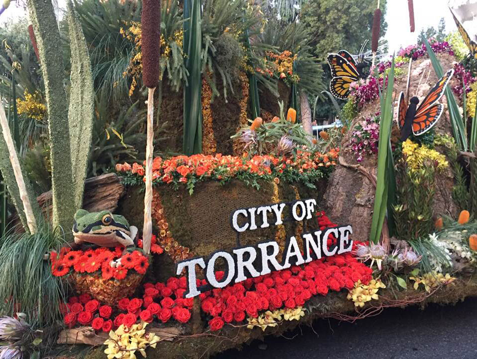 City of Torrance float in 2018 Rose Parade
