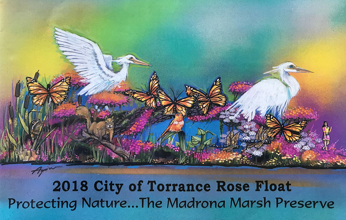 Madrona Marsh featured on the 2018 City of Torrance Rose Parade Float